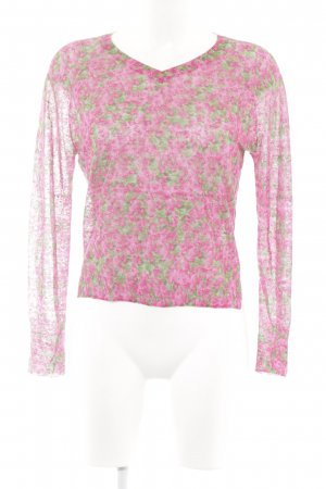 Cacharel V-Neck Sweater floral pattern casual look