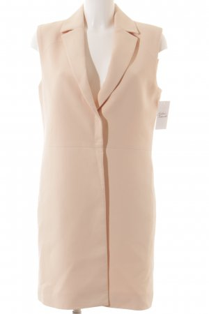 Cacharel Long Knitted Vest nude minimalist style