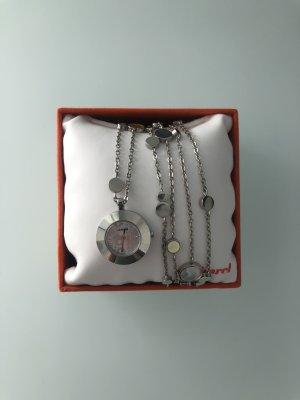 Cacharel Orologio con cinturino di metallo argento
