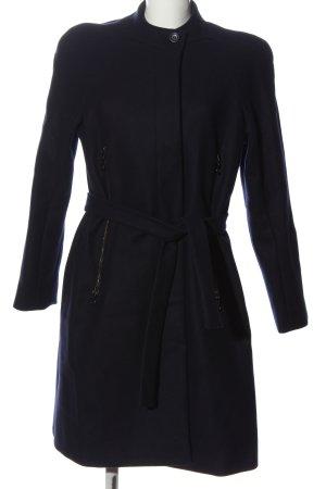 Cacharel Wełniany płaszcz ciemnoniebieski W stylu casual
