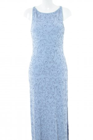 caché Abendkleid blau Allover-Druck Elegant