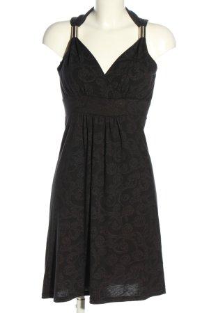 Cache & Cache Sukienka z dżerseju czarny-brązowy Abstrakcyjny wzór