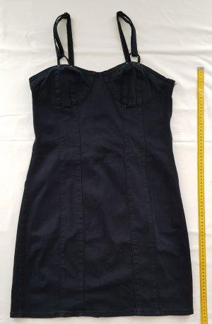 Cache & Cache Denim Dress dark blue cotton