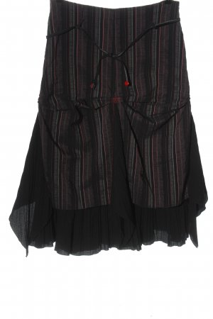 Cache & Cache Midi Skirt black-red allover print casual look