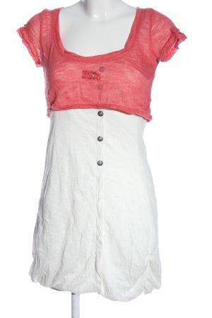 Cache & Cache Robe courte blanc-rouge style décontracté