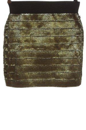 Cache & Cache Mini-jupe doré-noir élégant