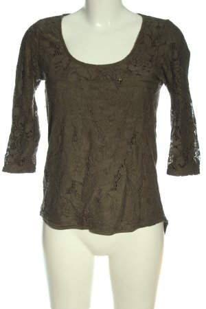 Cache & Cache Lace Blouse brown graphic pattern casual look