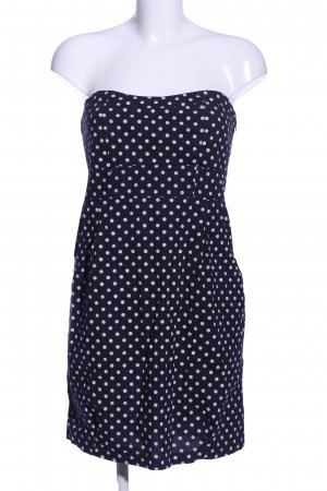 Cache & Cache Off-The-Shoulder Dress blue-white spot pattern casual look