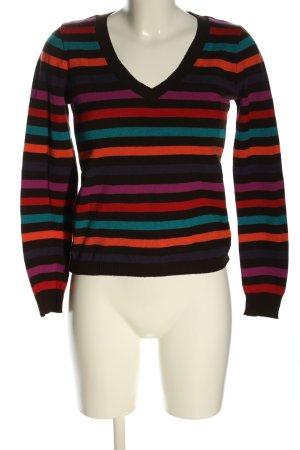 Cache & Cache Sweter z dekoltem w kształcie litery V Wzór w paski