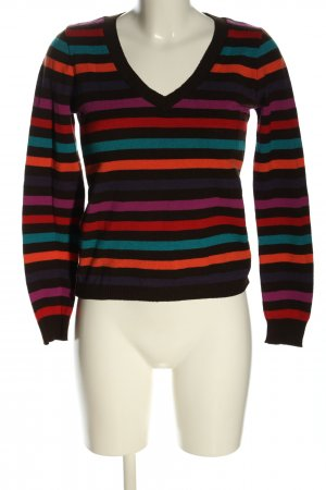 Cache & Cache V-Neck Sweater striped pattern casual look