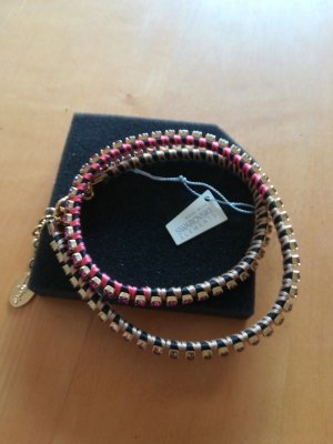 Cadenzza Necklace gold-colored-magenta