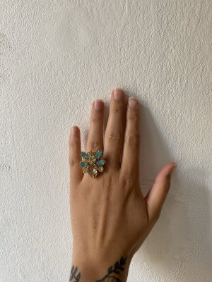 Cadenzza Statement Ring gold-colored