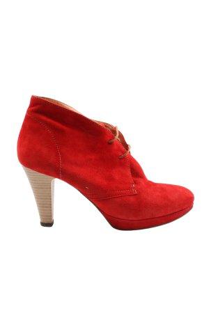 Cadoro Venezia Bottines à lacets rouge style décontracté