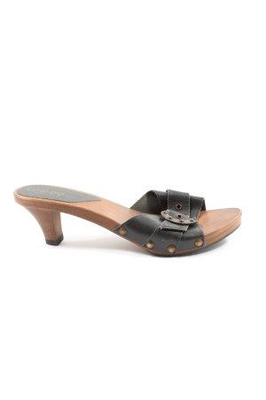 caerpa Heel Pantolettes black-brown casual look