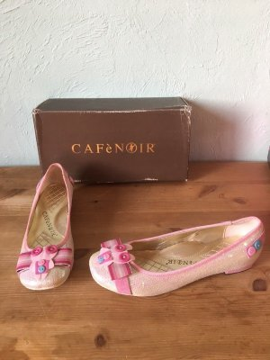 Café Noir Ballerinas Pailletten Pink Bunny