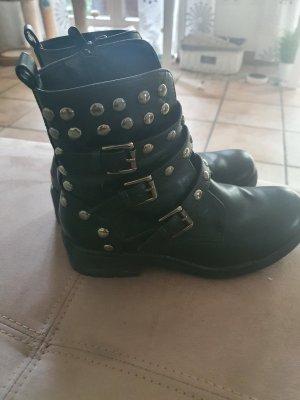 Cafe Noir Boots, Gr. 37, schwarz mit Nieten