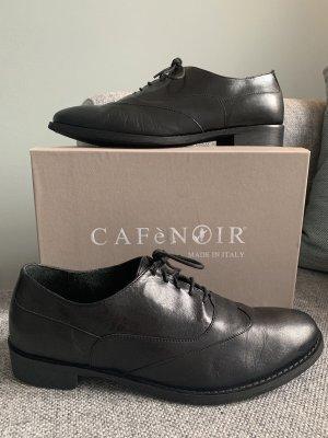 Café Noir Oxfordy czarny Skóra