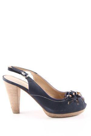 Café Noir High Heel Sandaletten blau-wollweiß Casual-Look