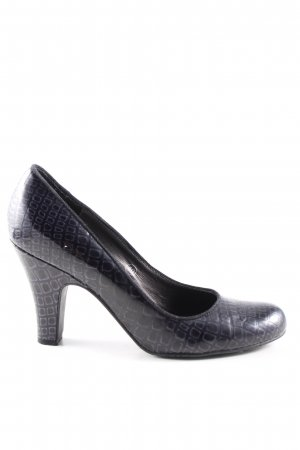 Café Noir High Heels blau Animalmuster Business-Look