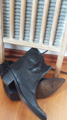 Café Noir Western Booties multicolored leather