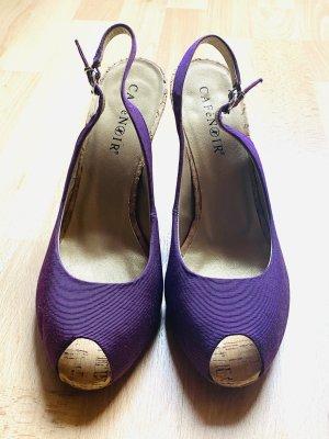 Café Noir Peep Toe Pumps violet-lilac mixture fibre