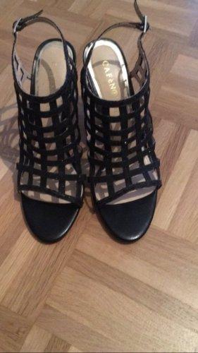 Café Noir Strapped High-Heeled Sandals black