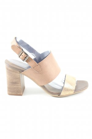 Café Noir Strapped High-Heeled Sandals cream casual look