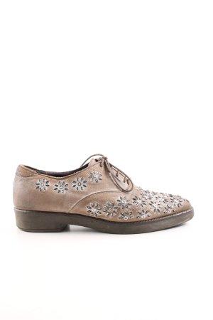 Café Noir Lace Shoes beige-dark grey second hand look