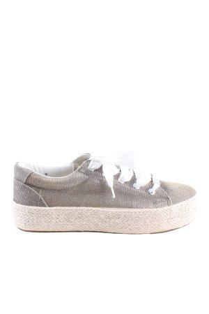 Café Noir Lace-Up Sneaker light grey flecked casual look