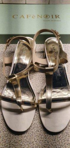 Café Noir Strapped High-Heeled Sandals gold-colored