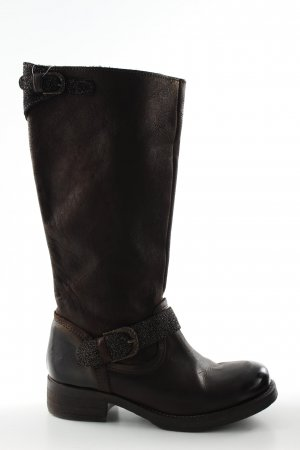 Café Noir Wide Calf Boots brown casual look