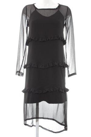 Cafènoir Sukienka koszulowa czarny Elegancki