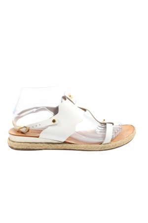 Cafènoir Strapped Sandals white casual look