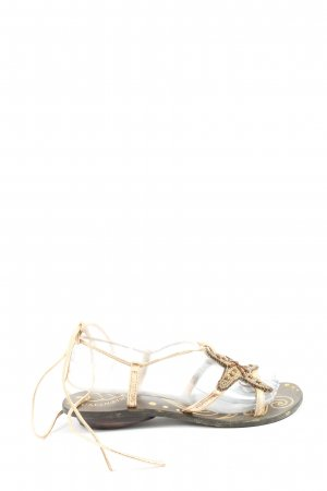 Cafènoir Beach Sandals gold-colored casual look
