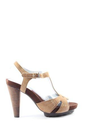 Cafènoir Sandały na obcasie brązowy-nude W stylu casual
