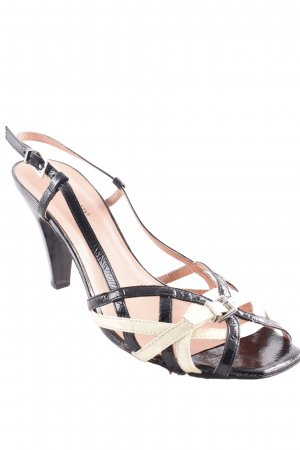 Cafènoir High Heel Sandaletten schwarz-hellgelb Elegant