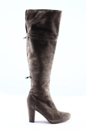 Cafènoir High Heel Stiefel hellgrau Business-Look