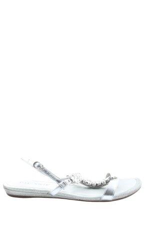 Cafènoir Comfort Sandals silver-colored casual look