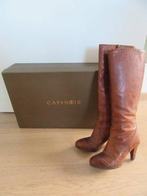 Café Noir Heel Boots cognac-coloured leather
