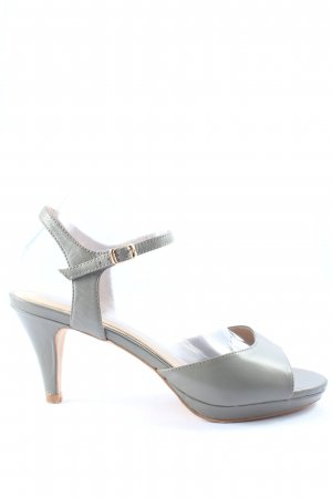 Cafènoir Strapped High-Heeled Sandals light grey casual look
