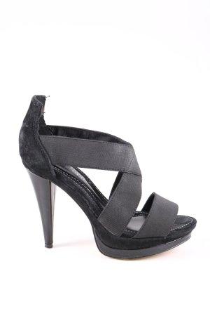 Cafènoir Buty na platformie czarny Elegancki
