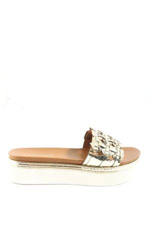 Cafènoir Sandały na platformie złoto W stylu casual