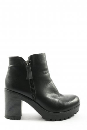 Cafènoir Zipper Booties black business style
