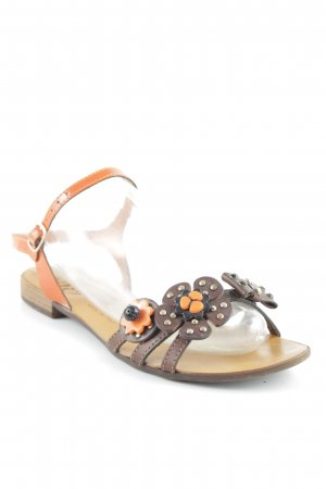 Cafènoir Strapped Sandals flower pattern casual look