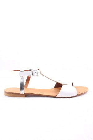Cafènoir Roman Sandals white-silver-colored casual look