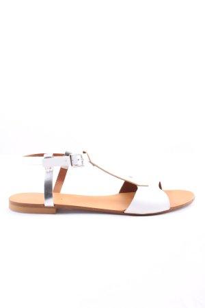 Cafènoir Sandały rzymskie biały-srebrny W stylu casual