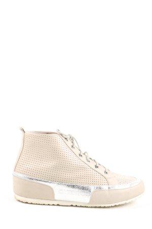 Cafènoir Lace-Up Sneaker cream-silver-colored casual look