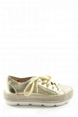 Cafènoir Lace-Up Sneaker gold-colored casual look