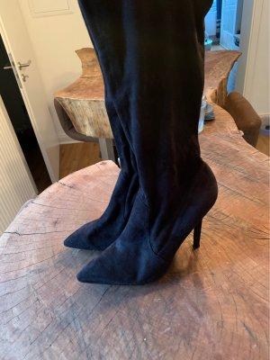 Café Noir Stretch Boots black