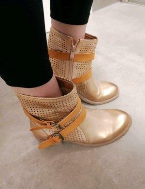 cafenoir Stiefeletten Boots gold neu 38